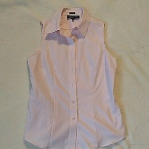 Jones New York, sleeveless, button down shirt